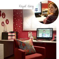 Decorviva! - Inspiração no tom da decoração.: Um home office (muito) mais vibrante!