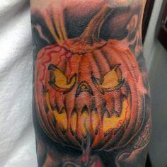 Jack o lattern tattoo