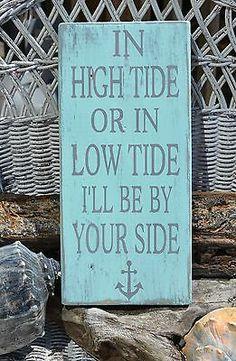Nautical Decor, Anchor Decor Beach Wedding, Wall Decor Sign, Wood Signage Plaque