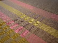 colours emerging on the loom