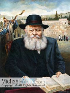 Rabbi Lubavitch, Jewish art, Judaica Art Print on Canvas Jewish History, Jewish Art, Art History, Cultura Judaica, Arte Judaica, Jewish Customs, Orthodox Jewish, Michael Art, Book People
