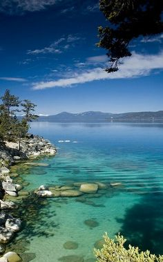 #travel #vacation #relax #chill #lake #Tahoe #water #nature #serenity #motivation #zen #sky