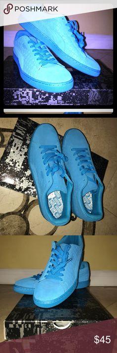 I just added this listing on Poshmark: Atomic blue + ICED Puma SUEDE Sneaker Shoes. #shopmycloset #poshmark #fashion #shopping #style #forsale #Puma #Other