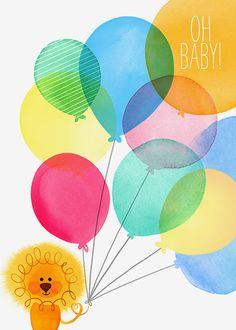 and baby drawing Margaret Berg A… und Baby zeichnen Margaret Berg Art: Baby + Löwe + mit + Luftballons – # Margaret Berg Nursery Drawings, Lion Illustration, Happy Birthday Wallpaper, Baby Clip Art, Baby Drawing, Baby Scrapbook, Watercolor Animals, Kids Prints, Book Gifts