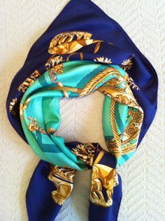 Classic Vintage Hermes Silk Scarf Les by hollywoodtreasures