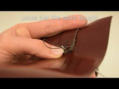 How to make leather bag by hand?