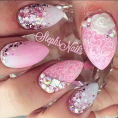 Stephanie Rochester @_stephsnails_ #almondnails #pink...Instagram photo | Websta (Webstagram) #_stephsnails_