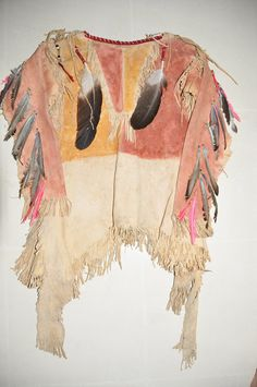 Sioux war shirt-(with two larger eagle feathers)-1870