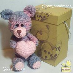 """18 отметок «Нравится», 1 комментариев — Коробочки ручной работы🎁 (@box_handmade_) в Instagram: «🎁""""Коробочка для мягких игрушек"""". (арт.010). 🐻Вязанный Мишка от рукодельницы и мастера своего дела…»"""
