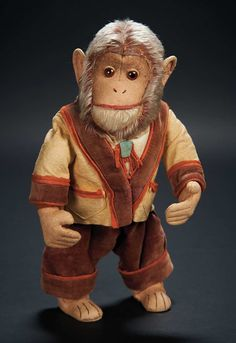 Love, Shirley Temple, Collector's Book: Lot # 546: A German Mohair Keywind Monkey, One of Shirley Temple's Favorite Early Toys
