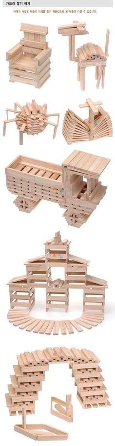 Kapla voorbeelden makkelijk kapla pinterest school for Modele maison lego