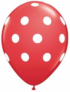 Red & White Dots Balloon Red Balloon  Polka Dot by ThePartyGnome