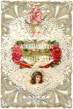 Art Deco Valentine Digital Download by MichelesAttic on Etsy