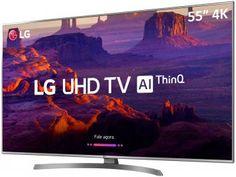 "Smart TV 4K LED 55"" LG 55UK6540 Wi-Fi HDR - Inteligência Artificial Conversor Digital 4 HDMI - Magazine Lojajessi Tv Led 50, Tv 32, Wi Fi, Smart Tv 4k, Lg 4k, Curved Tvs, Digital Marketing Business, Ultra Hd 4k, Home Theaters"
