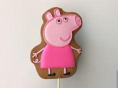 "Купить Пряники "" Свинка Пеппа"" - бледно-розовый, свинка, свинка пеппа, свинки, свин"