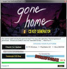 Gone Home CD Key Generator 2016