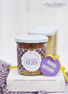 Kokos-Schoko-Kuchen im Glas I Geschenke aus der Küche I cake in a jar I homemade gift I Casa di Falcone