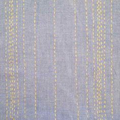 Chambray Rules by Kathy Hall Stitches Light Blue/Metallic Gold