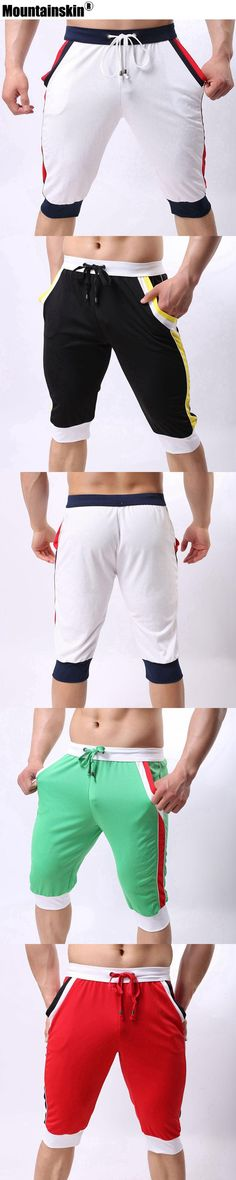 Mountainskin 2017 Solid Men's Shorts Knee Length Casual Joggers Men's Boxers Sexy Summer Shorts Male Clothing Breathable SA352