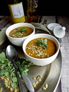 "Pumpkin Black Bean Soup (recipe) - ""i am almost willing to bet you have most if not all the ingredients to make this soup sitting in your  pantry. black beans, peppers, pumpkin, garlic, cumin, salt & sweetener."""