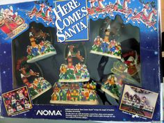 Noma Here Comes Santa Light Music Motion Christmas Decoration 1994 Decor NEW