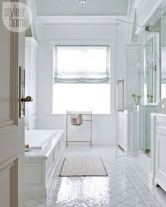 sparkly tiles for bathroom | room, this bathroom's white and grey colour palette and mosaic tiles ...