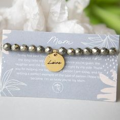 Mom Love Bracelet - Matte Gold