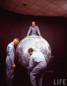 The Apollo 11 astronauts, 1969. Lunar Module pilot Buzz Aldrin; Command Module pilot Michael Collins; Mission Commander Neil Armstrong.