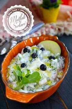 the yesil_elmali_semizotu_salata - Emma Edmiaston Salad Recipes Appetizer Salads, Best Appetizers, Appetizer Recipes, Salad Recipes, Green Apple Recipes, Healthy Chicken Recipes, Cooking Recipes, Healthy Salads, Greek Cooking