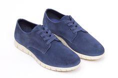 miMaO Urban 360 Denim – zapato cómodo hombre plano extraligero cómodo piel ante azul- Comfort men's flat shoes trainers denim blue  jeans suede leather extralight