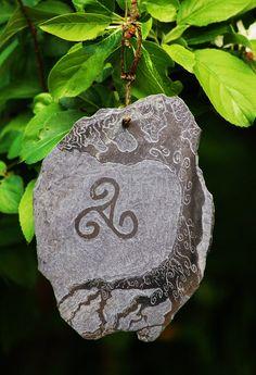 Siam Lamo Original Celtic Triskele Triskelion Yin Yang Triquetra étain Pendentif