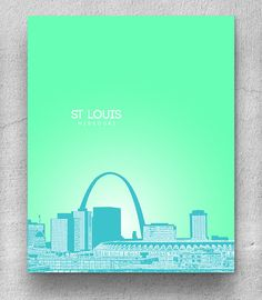 St Louis Missouri Skyline / Home Office by YouandYoursPrints, $20.00