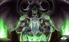 by ShadowPriest on DeviantArt Warcraft Heroes, World Of Warcraft Game, Warcraft Legion, Warcraft Art, Dark Fantasy Art, Fantasy Girl, Illidan Stormrage, Medieval, Night Elf