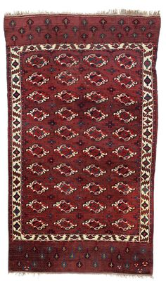 Oriental rugs and carpets — how to pick the right one | Christie's A Yomut main carpet, west Turkmenistan, second half 18th century. 9 ft 11 in x 5 ft 7 in (301 cm x 172 cm). Estimate: £25,000-35,000. This lot is offered in Art of the Islamic and Indian Worlds Including Oriental Rugs and Carpets on 26 October 2017 at Christie's in London