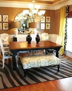 My dinning room inspiration :) already made a budget Style At Home, Sweet Home, Dining Room Inspiration, Dining Room Design, Home Interior Design, Interior Ideas, Room Decor, Wall Decor, House Design