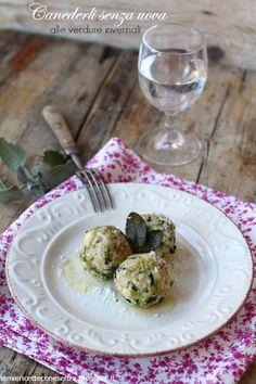 Canederli senza uova alle verdure invernali