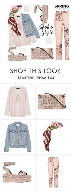 """""""Spring Boho (Top Set 25 March 17 - Thanx PV )"""" by badassbabyboomer on Polyvore featuring The Kooples, The Row, Frame, Gucci, Alexander Wang and River Island"""