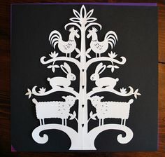 german paper cutting patterns with bears - Google Search