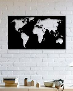 Dünya Haritası Metal Tablo - World Map