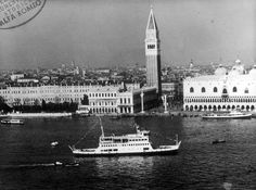 mototraghetto San Marco A.C.N.I.L. San Marco Ferry with 2 coupled pairs of engines. motori AR1627 : 1962