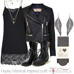 Hayley Marshall inspired outfit/The Originals by tvdsarahmichele on Polyvore featuring ONLY, Burberry, Oasis and House of Harlow 1960