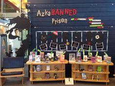 AzkaBANNED Books Display at the Ballard Branch Library #BannedBooksWeek