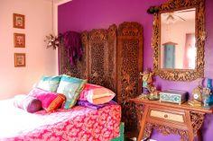 India Room mirror and bed by fennelgrl, via Flickr