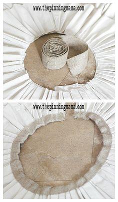 DIY Painter's Drop Cloth & Burlap Ruffled Tree Skirt | The Pinning Mama
