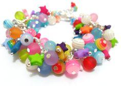Stars+Bracelet+Multi+Coloured+Bracelet+Fireworks+by+FunkyPinks,+£12.99