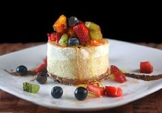 Skinny Cheesecake - Would you believe it has almost 5 times less calories than a full fat cheesecake?  Trust me, you'd never know it.  It's lighter in texture, more like a a mix between a ricotta cheesecake and full fat cheesecake, but the flavor is so close to regular cheesecake.