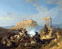 Σκηνή από τον Αγώνα της Ανεξαρτησίας των Ελλήνων. Georg Perlberg – Battle Scene From The Greek War Of Independence
