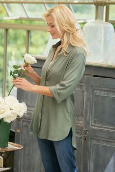 Our Sarrant Shirt is available in 5 fabulous colors. Try it belted or loose for a variety of trendy looks.