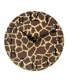 Take a look at this Giraffe Wood Clock by Adams & Co. on #zulily today! $10 !!