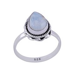 Sterling silver and Rainbow Moonstone Teardrop RingRing height 13mmSize small (US 5 3/4 or UK L)Size medium (US 7 or UK N 1/2)Size large (US 8 or UK P 1/2)